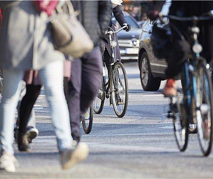 Das Seminar widmet sich der Verkehrssicherheit von Radfahrern und Fußgängern. Foto: Martin Lukas Kim Fotografie