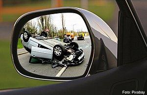 Verkehrsunfall auf einer Landstraße
